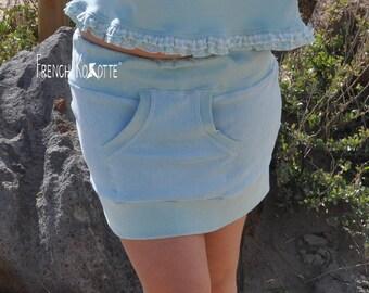 Miniskirt pastel sponge. french Kokotte.