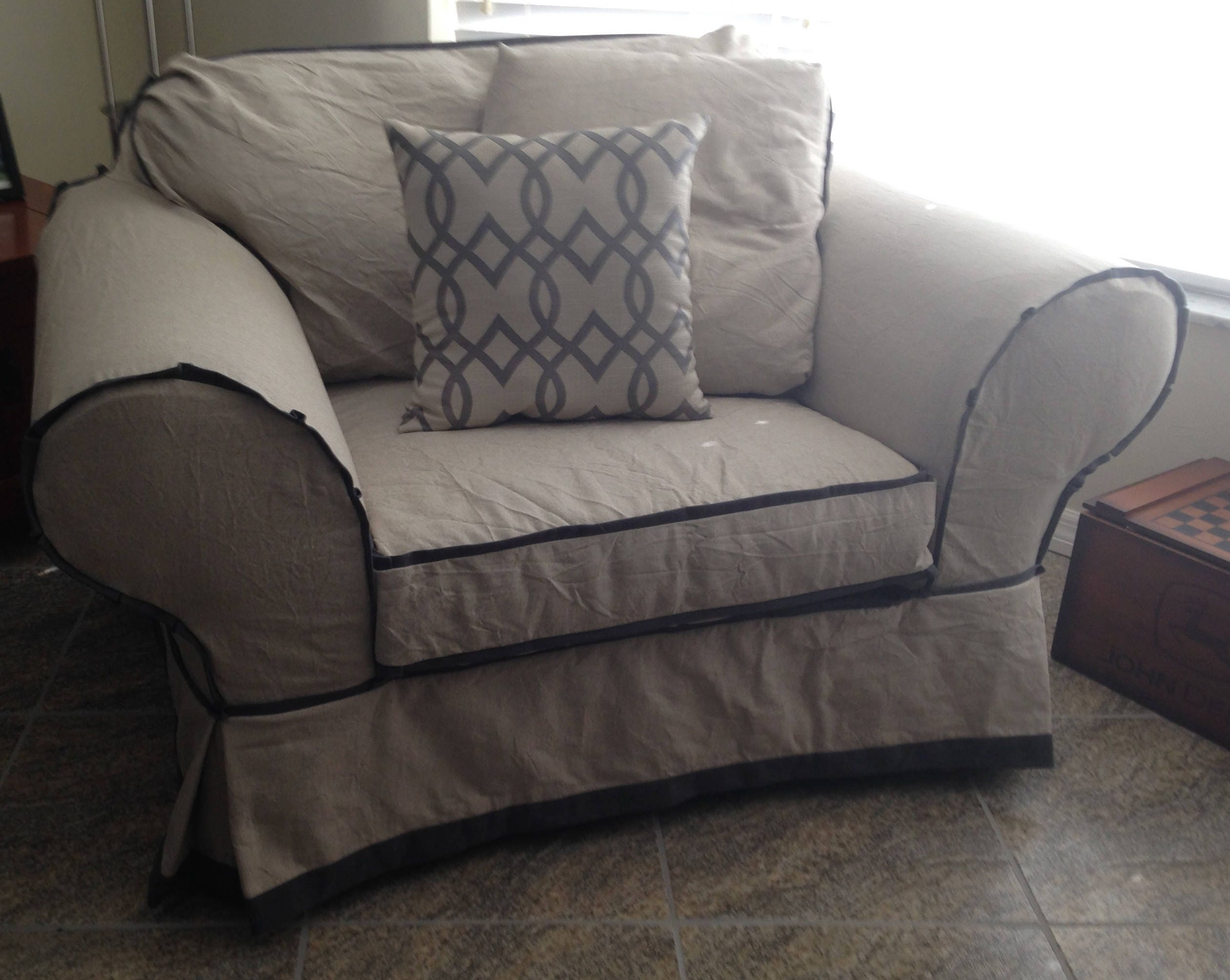 PDF HRS Chair Chair and a Half Slipcover High back Rolled