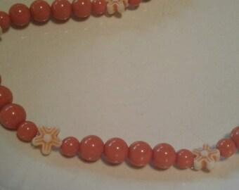 Burnt Orange Stretch Necklace