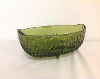Vintage green candy dish.