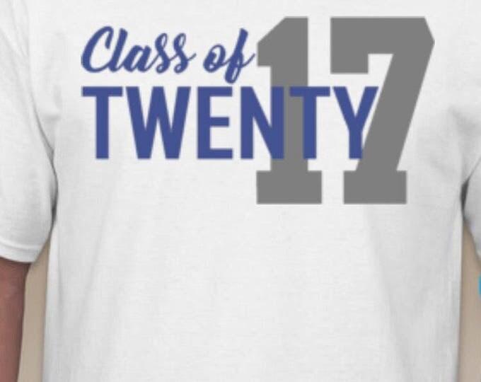 Class of 2017 Glitter Tshirt