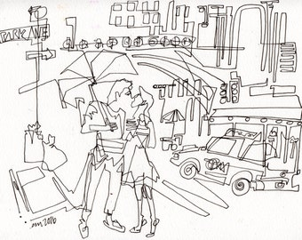 NYC Lover - line drawing PRINT - PAiNtBABies