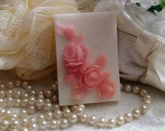 Peach Rose Soap~Rose Soap~Peach Roses Soap~Guest Soap~Decorative Soap~Gift Soap~Mothers Day Gift~Handmade Designer Soap~Gift For Women~
