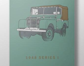 1948 Land Rover Series 1 print