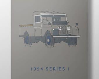 1954 Land Rover Series 1 print