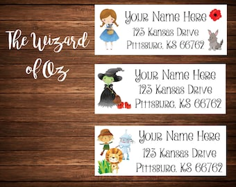 Wizard of Oz Address Labels, Mailing Labels