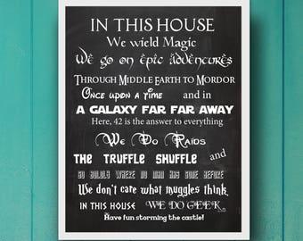 In This House We Do Geek, Digital Image
