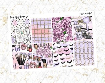 Glam Life Full Boxes   8 Stickers