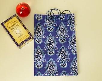 Lotus Flower Tarot Bag, Tarot Card Bag, Tarot Card Wrap, Lotus Flower Tarot Bag, Tarot Card Pouch, Lotus Flower Bag, Lotus Flower Card Wrap