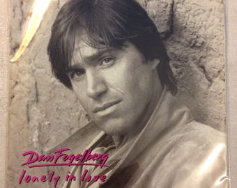 "Dan Fogelberg- Lonely In Love / Beyond the Edge Rock 45 rpm Promo Vinyl Epic Record 7"" with picture sleeve"