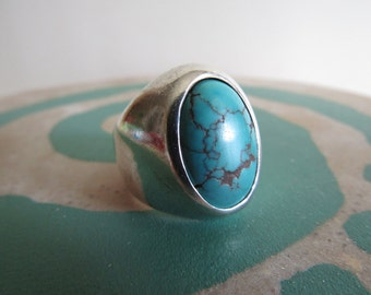 Southwest Turquoise Silver Ring