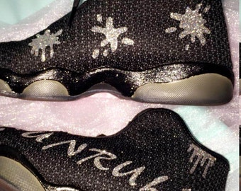 Custom Glitter Paint Splat Jordan Horizon