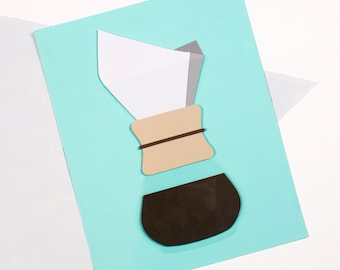 Chemex Coffee Paper Cut // Cut Paper Design // Coffee // Java // 8x10 // 11x14
