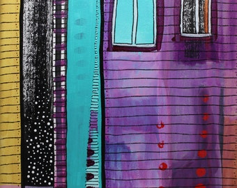 9 x 12 inch original acrylic painting- The Space In-between