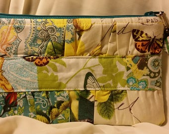 Clutches - Soft, Zippered, Lined - Michael Miller French Journal Anjou