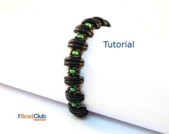 Beaded Bracelet Patterns - Bracelet Tutorial - Crescent Beads - Seed Bead Patterns - Beading Tutorials and Patterns - Divided Daisy Bracelet