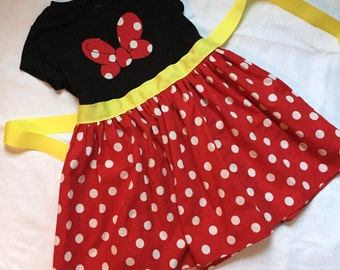 Minnie Mouse-inspired t-shirt dress for Big Girls-- sizes XS S M L XL (ages 6-12)