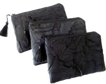 Black Clutch, Evening Bag, Bridesmaid Gift, Brides Purse, Wedding Purse, Evening Bag, Girls Purse,