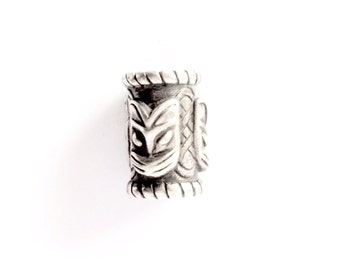 Silver Medium Beard Ring/ Dreadlock Bead VIKING KRISTALL Kai