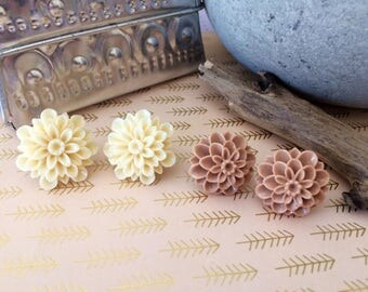 The Dahlia, Large Stud Earrings