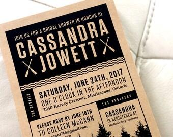 Outdoor Wedding Shower Invitation, Modern Wedding Invitation, Rustic Wedding Invitation, Printable Wedding Invitation - Samantha Suite