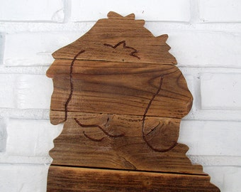 Goldendoodle Labradoodle Puppy Rustic Wood Dog Sign Rustic Goldendoodle Wall Art #7026