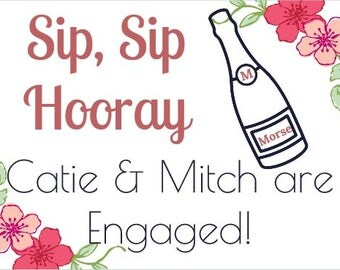 Engaged Wine Label *Free Shipping*
