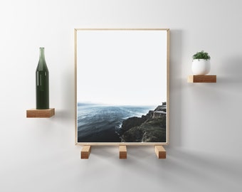 Modern, Minimal, nature and travel photography. Hygge and scandinavian design. Cliffs of Moher, Ireland V2. Printable wanderlust photo