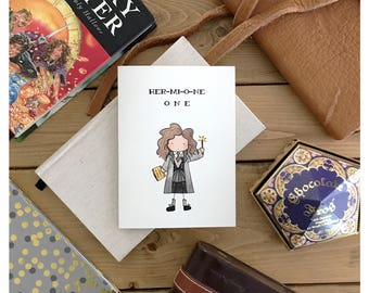 Hermione Card // hermione, harry potter, harry potter card, harry potter love card, harry potter valentines day card, cute card, funny card