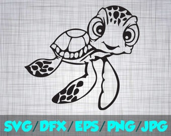 Nemo SVG Iron On Decal Cutting File / Clipart in Svg, Eps, Dxf, Png Jpeg for Cricut & Silhouette Mickey Mouse Baby Squirt Crush Finding Nemo