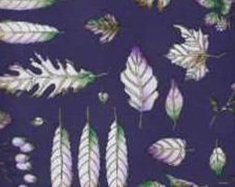Timeless Treasures Quilting Cotton Fabric Leaves 129920 - 1/2 Yard