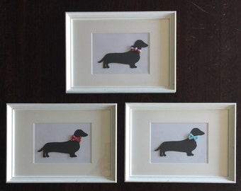 SALE.....Dachshund silhouette Picture Frame
