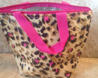 Leopard lunch bag