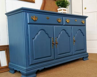 Blue sideboard / buffet / credenza /console