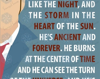 SVG & DXF design - The tenth Doctor Who - He's fire and Ice and rage quote cut file for die cutting machines (Cricut \ Silhouette)
