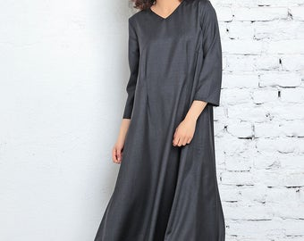 Kaftan Dress, Victorian Dress, Cyberpunk Clothing, Long Dress, Loose Dress, Maxi Dress, Avant Garde Dress, Urban Clothing, Festival Dress