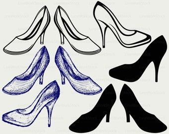 High heels svg,heels clipart,high heels svg,heels silhouette,heels cricut cut files heels clip art,heels digital download designs,svg,dxf