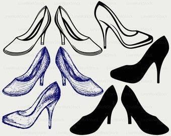 High heels svg,heels clipart,high heels svg,heels silhouette,heels cricut cut files heels clip art,heels digital download designs,svg,dxf