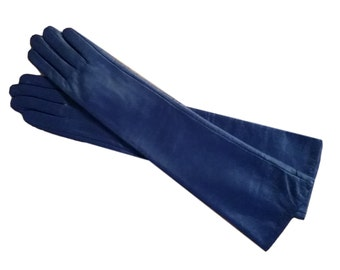 Long Leather Gloves 5 Colors