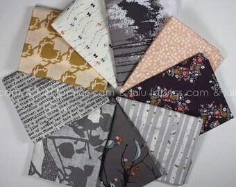 BLITHE in Woodland Mist by Katarina Roccella - Art Gallery Fabrics  - 9 Piece FAT QUARTER Bundle