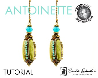 Antoinette beaded bead tutorial pdf + video