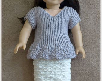 American Girl - Ribbed Top and Skirt (knitting pattern)
