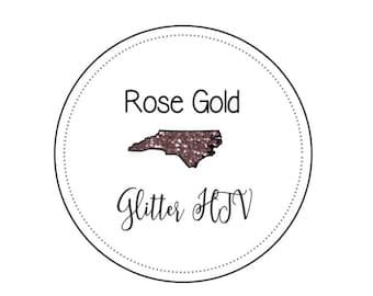"""Rose Gold Siser Deluxe Glitter Heat Transfer Vinyl, Pink Gold Glitter htv  12x20"""" Sheets Glitter htv Pink Glitter HTV"""
