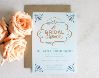 PRINTABLE Bridal Shower Invitation | A Bridal Shower