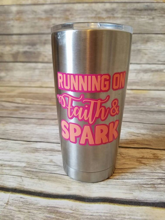 Running On Faith And Spark Decal Vinyl Sticker Yeti Decal - Advocare car decal stickers