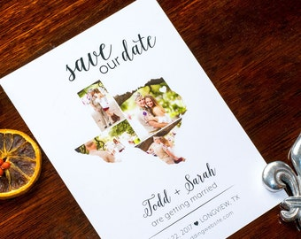 Rustic State Pride Save the Date - Texas wedding invitations, Simple, Country, Wedding, Cursive, 5x7