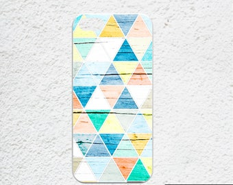 Geometric iPhone 6s plus case - Available for iPhone 7, iPhone 7 plus, iPhone 6, iPhone 6s - colorful triangles - geometric pattern