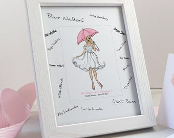 Bridal Shower Guest Book Alternative - Bridal Shower Gifts for Bride -  Hen Party Guest Book - Future Mrs Gift - Gift from Bridesmaid