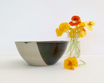 Handmade stoneware large salad or soup bowl. Ceramic, Melbourne