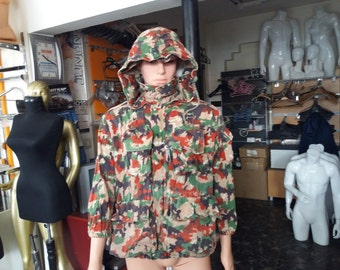 Vintage 1980's Swiss Army Camouflage Jacket